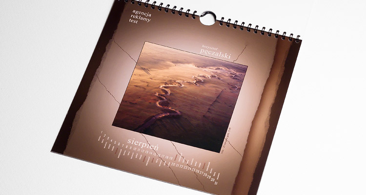 Test Advertising Agency - Wall calendar - August