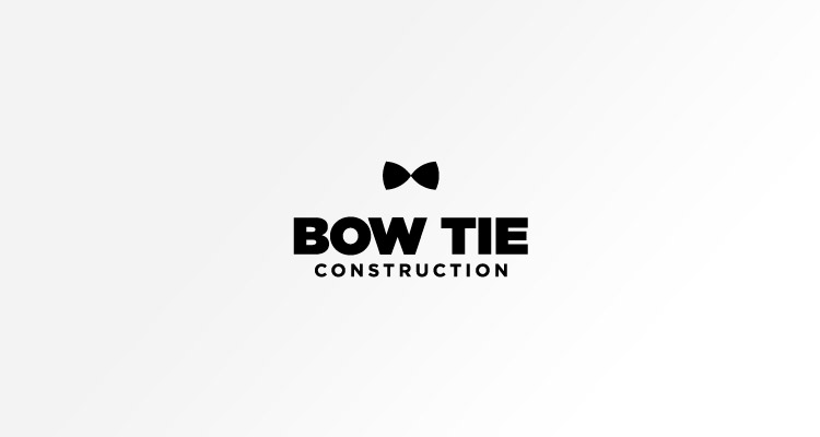 Logo design for Bow Tie Construction - specialist in sustainable home refurbishments