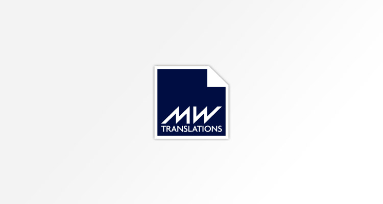 Logo design for MW Translations - providing translation services for individual clients